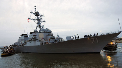 US 6th Fleet flagship docks in Georgia after entering Black Sea