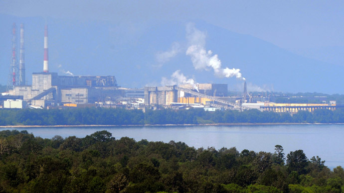 Baikal pulp and paper mill in the Irkutsk region. (RIA Novosti/Iliya Pitalev)