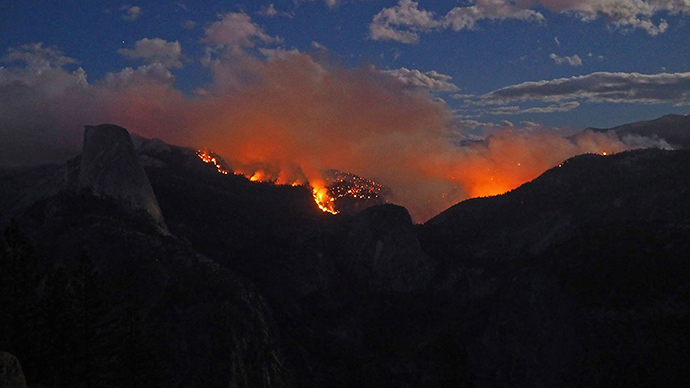 Hikers airlifted from massive wildfire in Yosemite National Park (PHOTOS, VIDEOS)