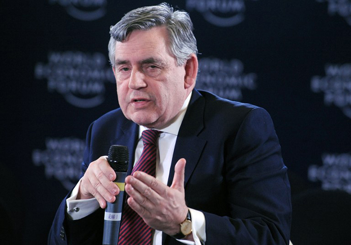 Former British Prime Minister Gordon Brown (AFP Photo / Pius Utomi Ekpei)