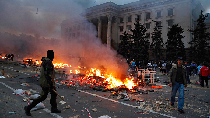 Latest bomb blast in Ukraine's Odessa devastates pro-govt office