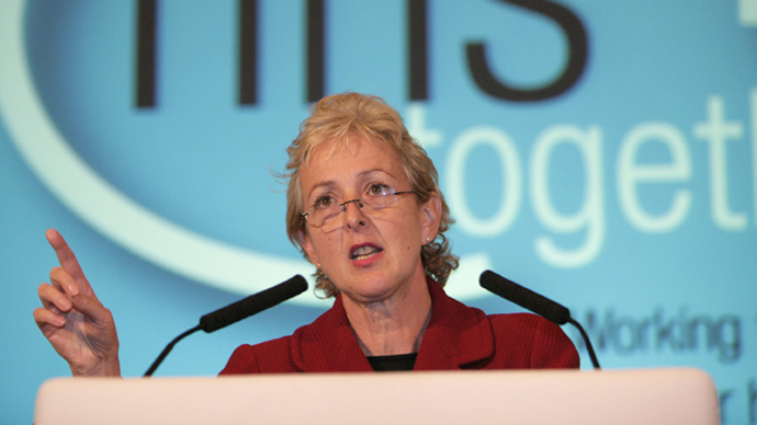 Unite Assistant General Secretary, Gail Cartmail. (Image from archive.unitetheunion.org)