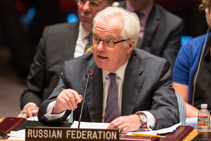 Russian U.N. Representative Vitaly Churkin.(AFP Photo / Andrew Burton)