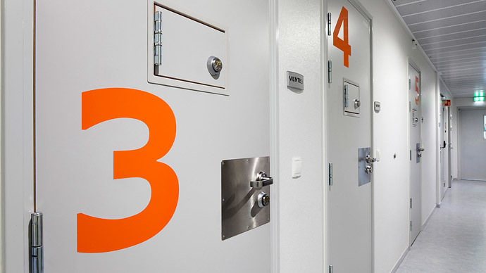 Cell doors are seen inside Halden prison in the far southeast of Norway.(Reuters / Trond A. Isaksen )