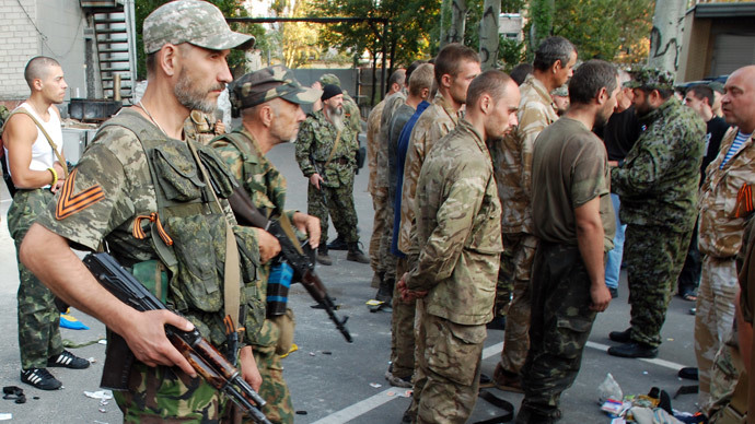 Kiev, Ukraine militias exchange prisoners