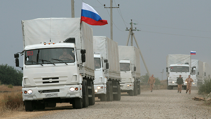 3rd Russian humanitarian aid convoy arrives in Donetsk