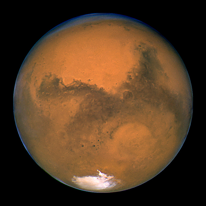 NASA's Hubble Space Telescope snapped this portrait of Mars (Reuters / NASA)