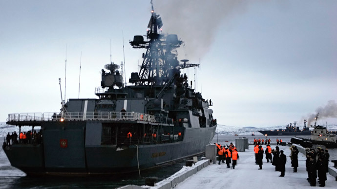 Ice voyage challenge: RT joins Russian Navy fleet in Arctic base build-up mission