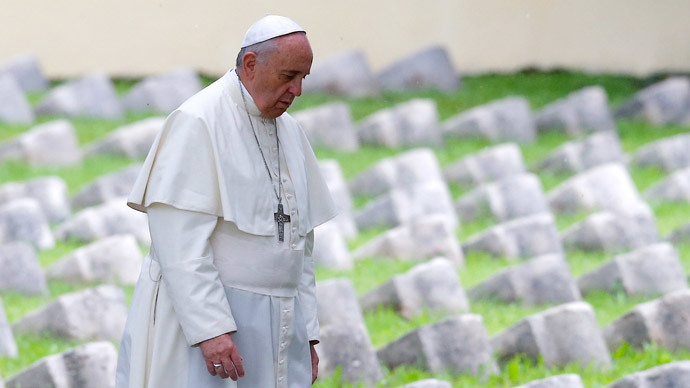 Pope Francis warns human greed will 'destroy world'