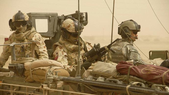 Australian military in Iraq, 2008. (AFP Photo / Michael Davis )