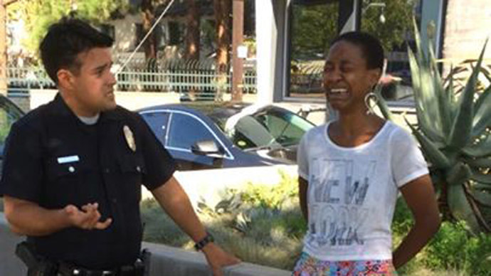 'They thought she was a prostitute': LA police handcuff Django Unchained actress kissing her white partner