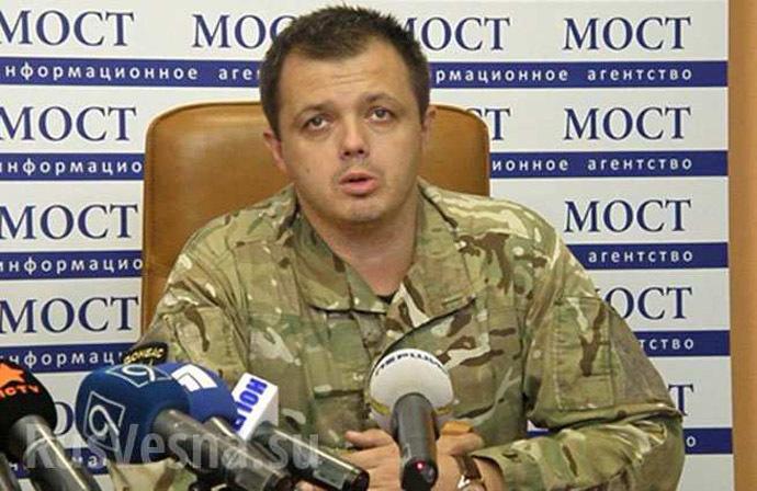 Donbass battalion commander Semyon Semyonchenko. Image from rusvesna.su