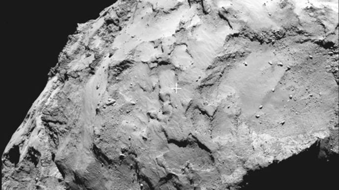 Philae's primary landing site (Image from esa.int)