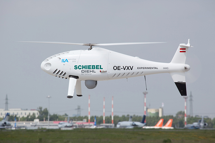 Schiebel's unmanned aerial vehicle Camcopter S-100 (AFP Photo/ HO / Schiebel)