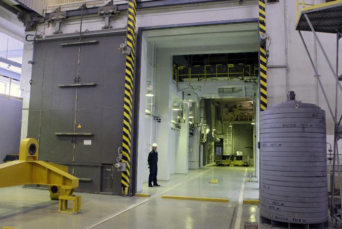 The spent fuel storage of the Mining and Chemical Plant. (RIA Novosti/Alexandr Kryazhev)