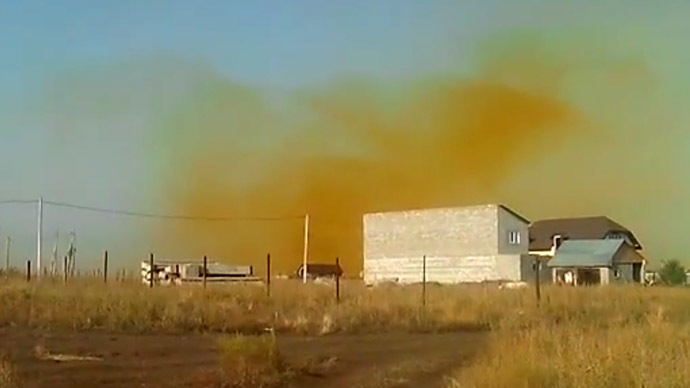 'Toxic' yellow cloud from rocket fuel plant spooks neighbors (VIDEO)