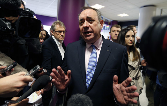 Scottish National Party leader Alex Salmond (Reuters/Russell Cheyne)