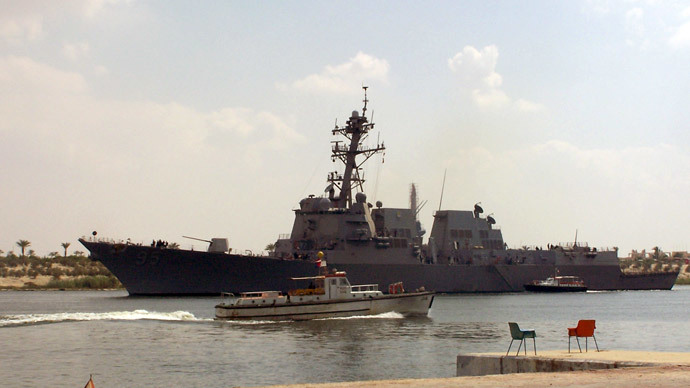 Navy removes destroyer's top three officers mid-deployment