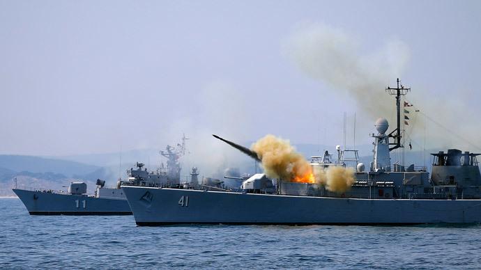 "Bulgarian navy frigate ""Drazki"".(Reuters / Stoyan Nenov )"