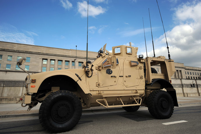 Mine Resistant Ambush Protected (MRAP) vehicle (AFP Photo / Tim Sloan)