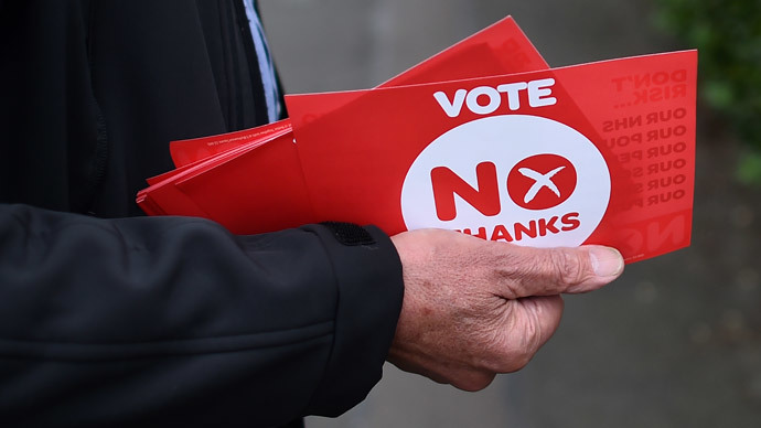 Scotland votes 'No' to split from UK in independence referendum