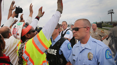 Ferguson fire claims citizens' Michael Brown memorial