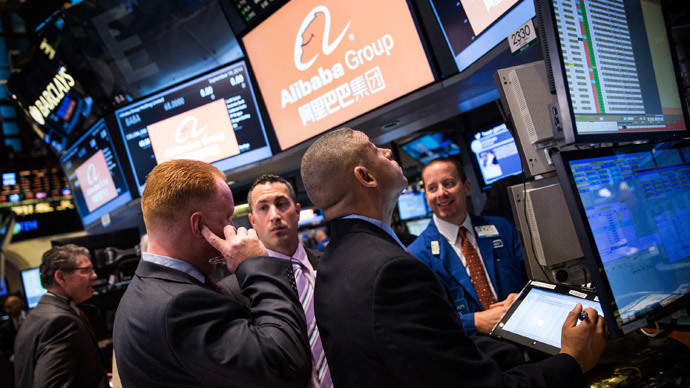 Alibaba debuts in New York in biggest IPO ever