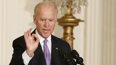 Creepy Veep: Joe Biden chalks up another sensational 'snuggle'