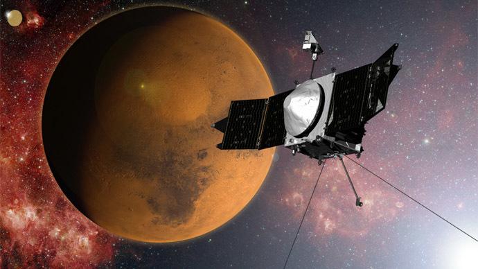 NASA spacecraft enters Martian orbit in search of lost water