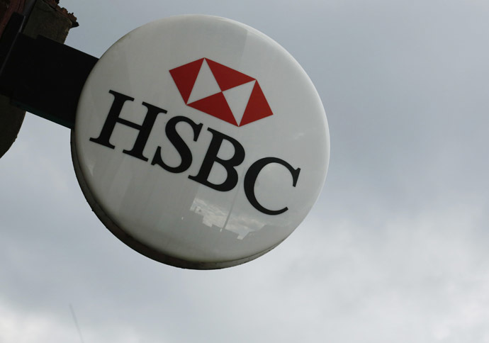 The signage of the HSBC bank is seen at a branch at Hayes in west London February 24, 2014.(Reuters/Luke MacGregor)