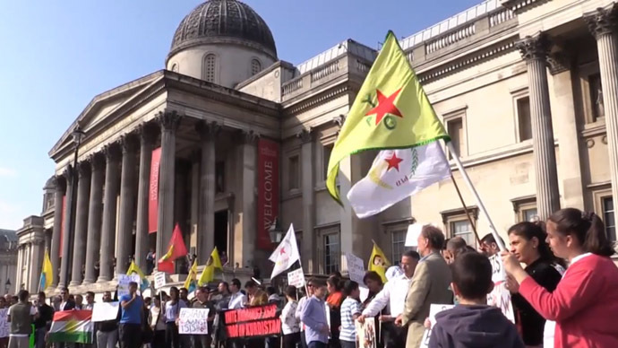 'Stop funding ISIS': Protesters accuse British govt of financing terror groups