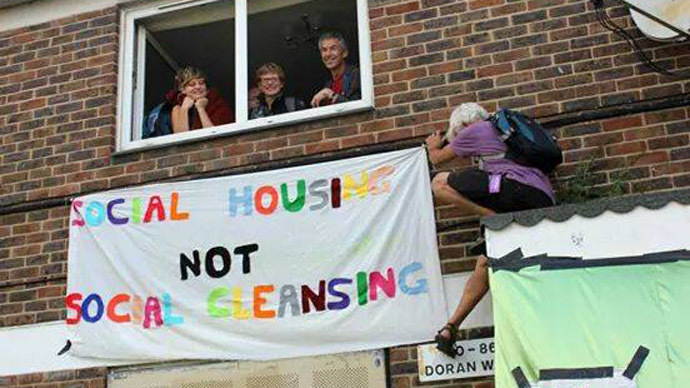 'Social housing, not social cleansing!' Homeless mothers & kids fight back by occupying London flats