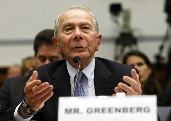 Former American International Group (AIG) CEO Maurice Greenberg (Reuters/Kevin Lamarque)