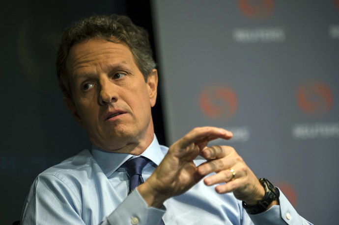 Former US Treasury Department Secretary Timothy Geithner (Reuters/Keith Bedford)