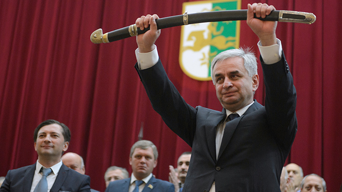 New Abkhazian president takes office