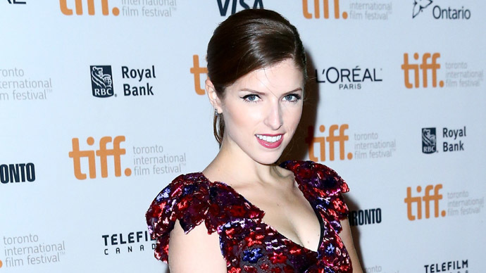 "Actress Anna Kendrick attends ""The Voices"" premiere during the 2014 Toronto International Film Festival at Ryerson Theatre on September 11, 2014. (AFP Photo/Leonard Adam)"