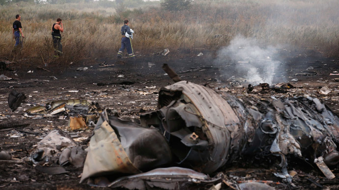 Malaysia Airlines Boeing 777 plane crash, MH17.(Reuters / Maxim Zmeyev)
