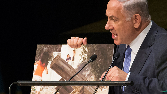 Win battle, lose the war: Photo-wielding Netanyahu puts Iran over ISIS, slams Hamas