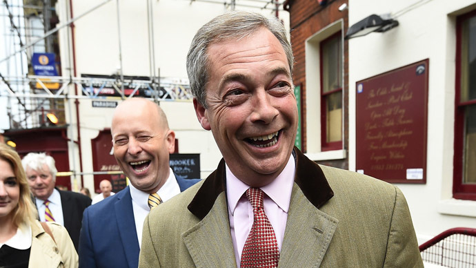 Nigel Farage, the leader of Britain's anti-EU party UKIP. (Reuters/Dylan Martinez)