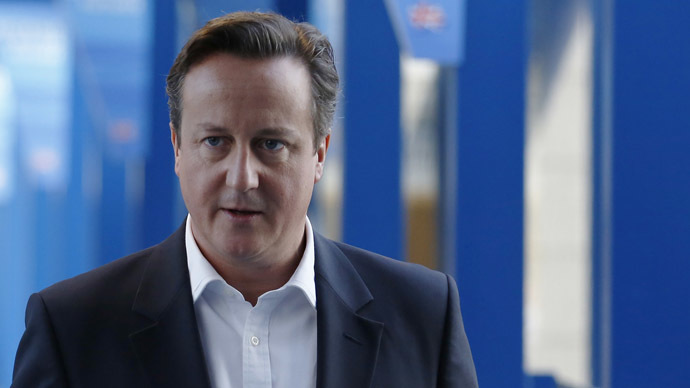 ​Slip of the tongue: Cameron claims to 'resent' poor