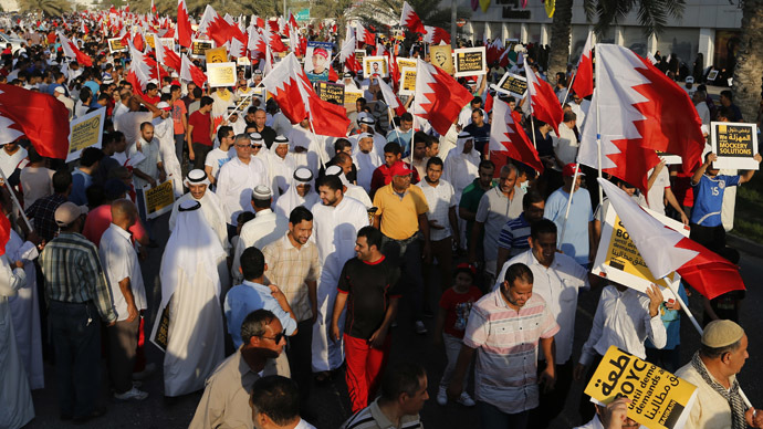 Bahrain election protest: Opposition group 'occupies' capital's downtown