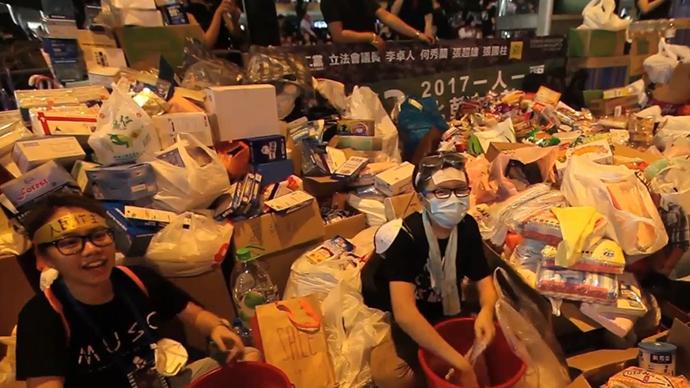 Tens Of Thousands Sleep Out: Massive Protest Lights Up Hong Kong Skyline – 30 September 2014 3