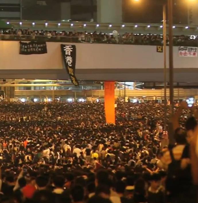 Tens Of Thousands Sleep Out: Massive Protest Lights Up Hong Kong Skyline – 30 September 2014 5