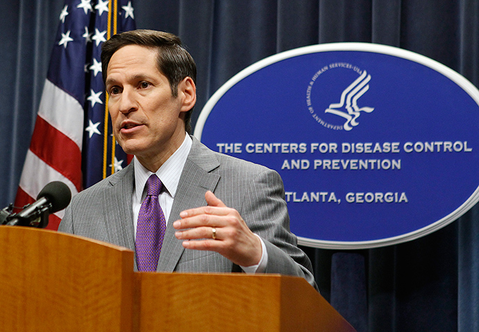 Centers for Disease Control and Prevention (CDC) Director, Dr. Thomas Frieden, speaks at the CDC headquarters in Atlanta, Georgia September 30, 2014 (Reuters / Tami Chappell)