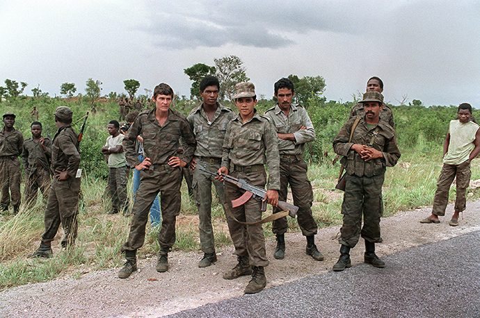 ARCHIVE PHOTO: A group of Cuban soldiers helping Angolan regular army and Soviet-backed Marxist MPLA regime in Luanda (AFP Photo)