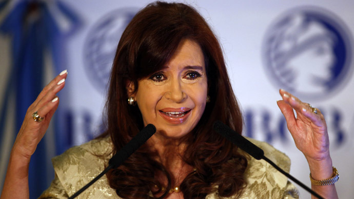 Argentine president hints at US plot to remove her