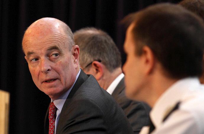 Former MI6 chief, John Scarlett. (AFP Photo/Justin Tallis)