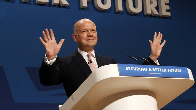 Britain's Leader of the House, William Hague. (Reuters)