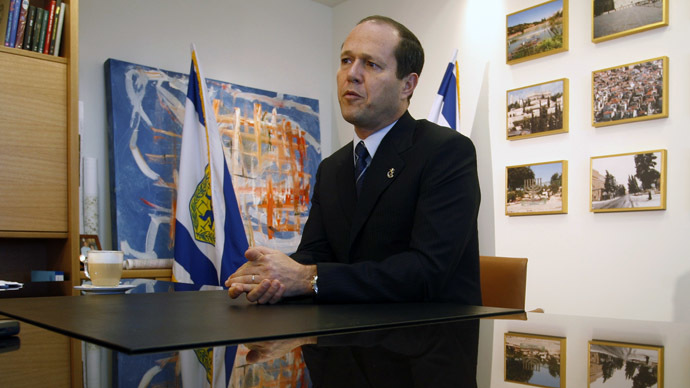 Jerusalem Mayor Nir Barkat (Reuters/Ronen Zvulun)