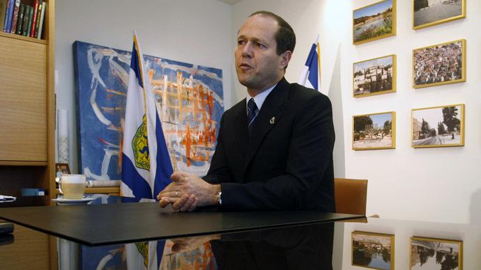 Jerusalem Mayor Nir Barkat (Reuters/Ronen Zvulun)